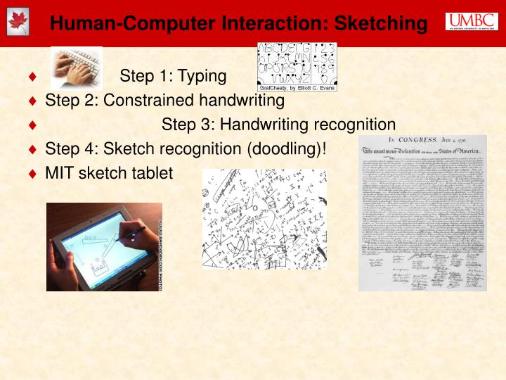 Human-Computer Interaction: Sketching