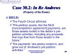 case 30 2 in re andrews property of the estate1