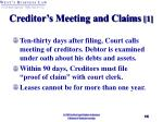 creditor s meeting and claims 1