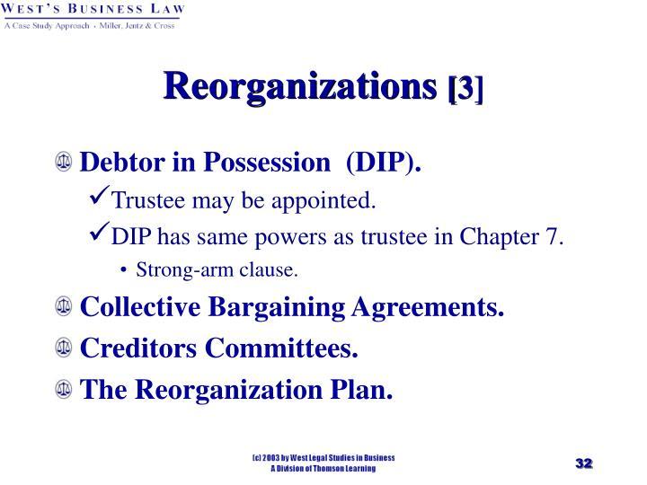 Reorganizations