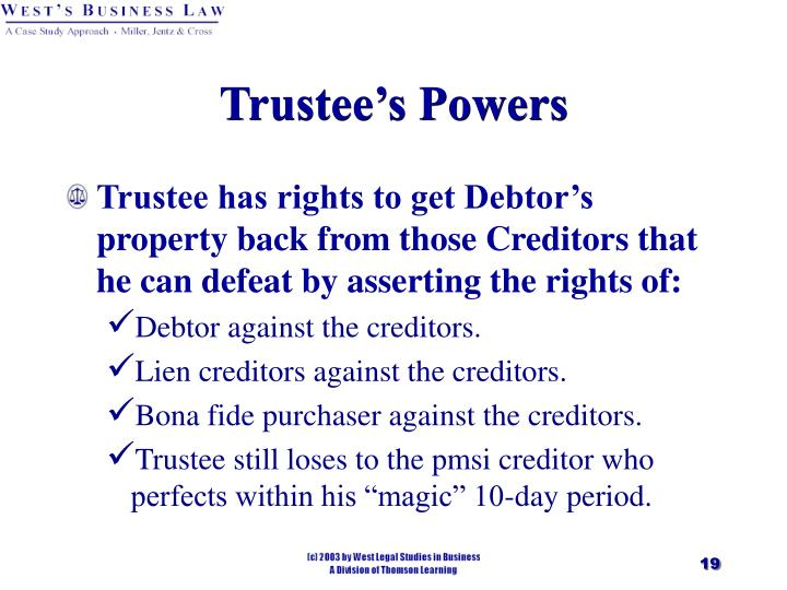 Trustee's Powers