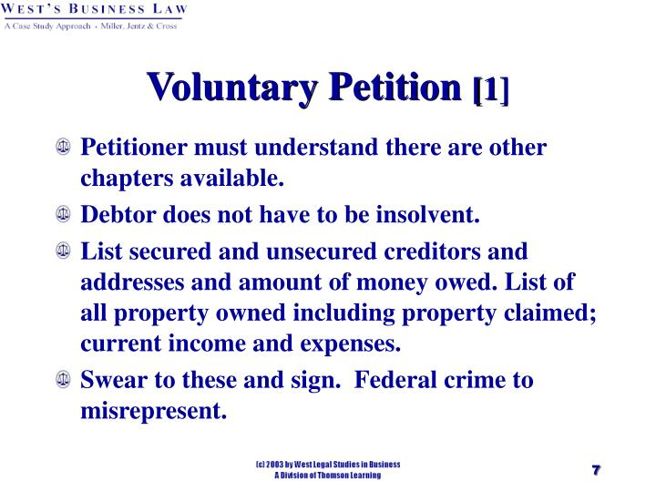 Voluntary Petition