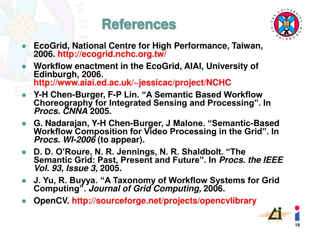 EcoGrid, National Centre for High Performance, Taiwan, 2006.