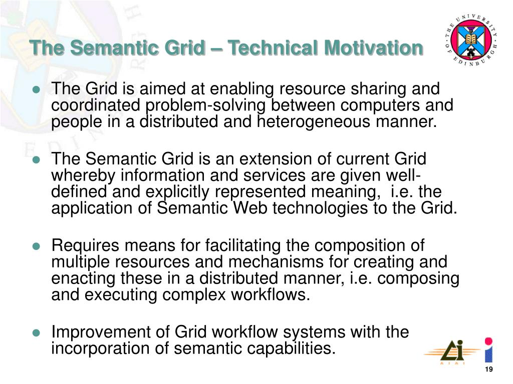 The Grid is aimed at enabling resource sharing and coordinated problem-solving between computers and people in a distributed and heterogeneous manner.