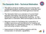 the semantic grid technical motivation