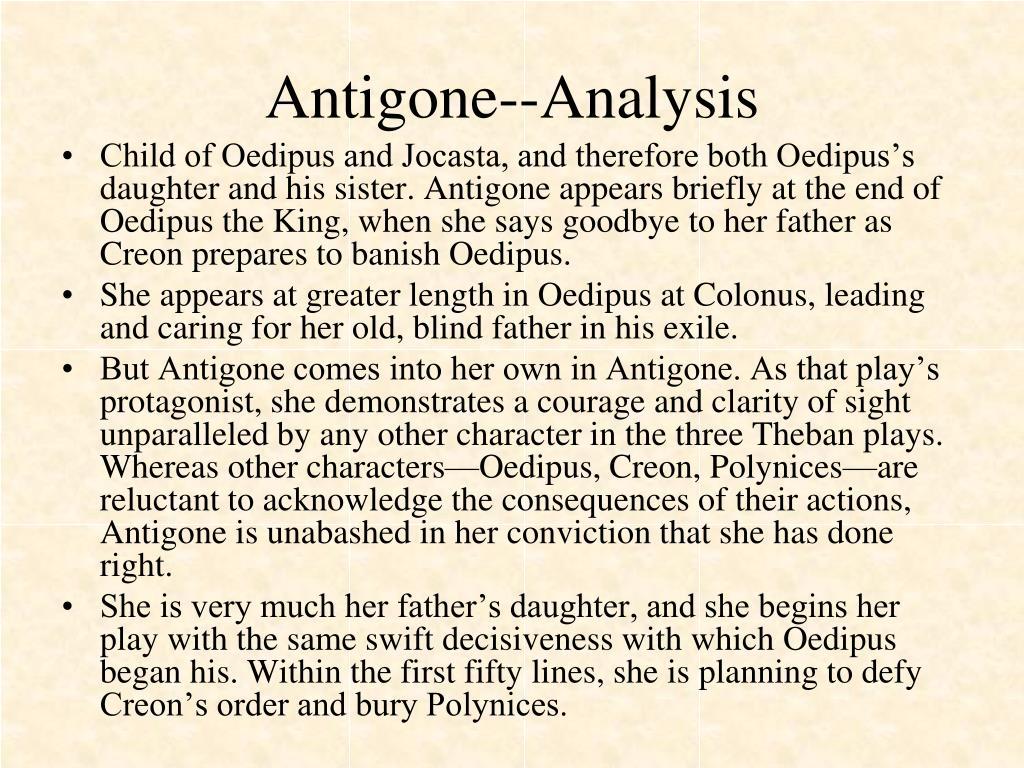 Antigone--Analysis