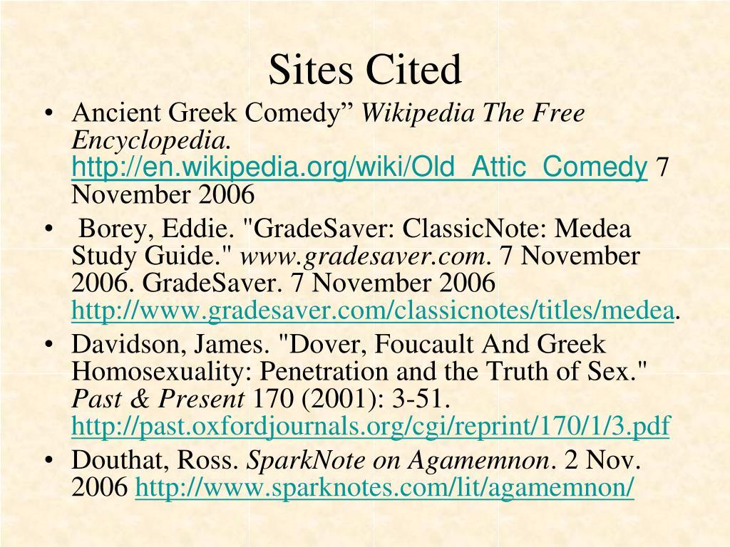 Sites Cited