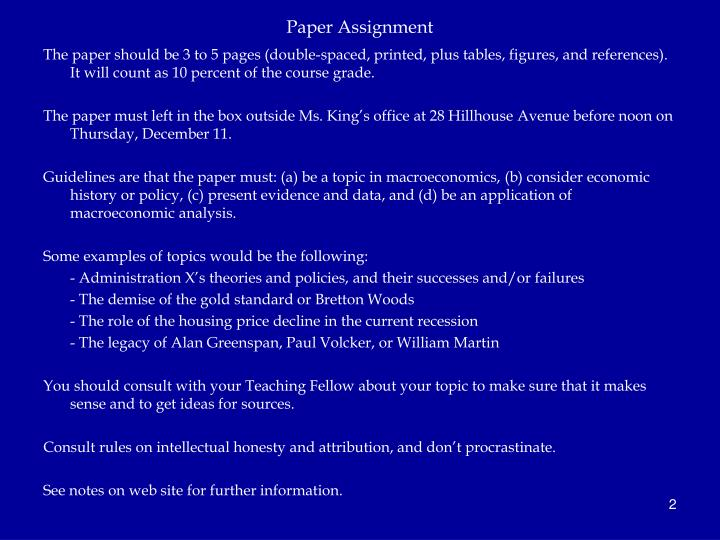 Paper Assignment