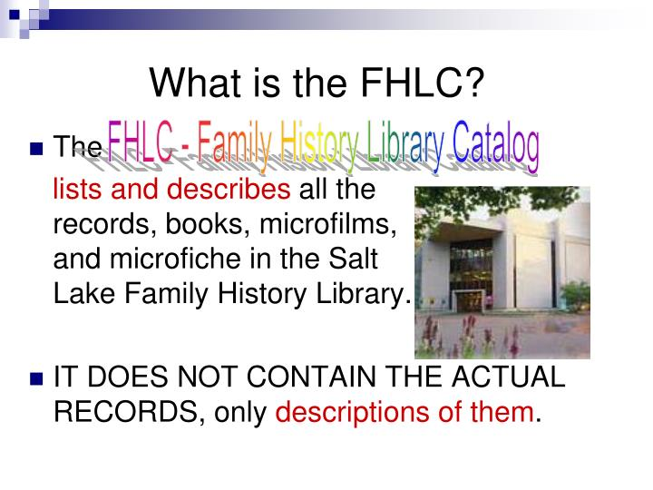 What is the FHLC?