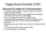 faglig social kontrakt fsk2