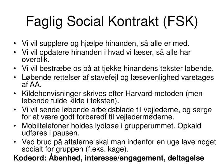 Faglig Social Kontrakt (FSK)