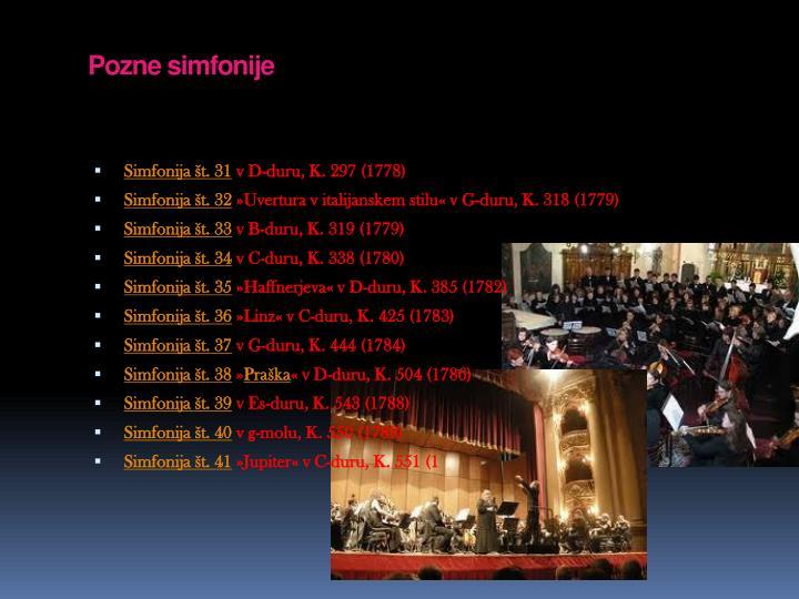 Pozne simfonije