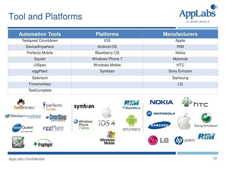 Tool and Platforms