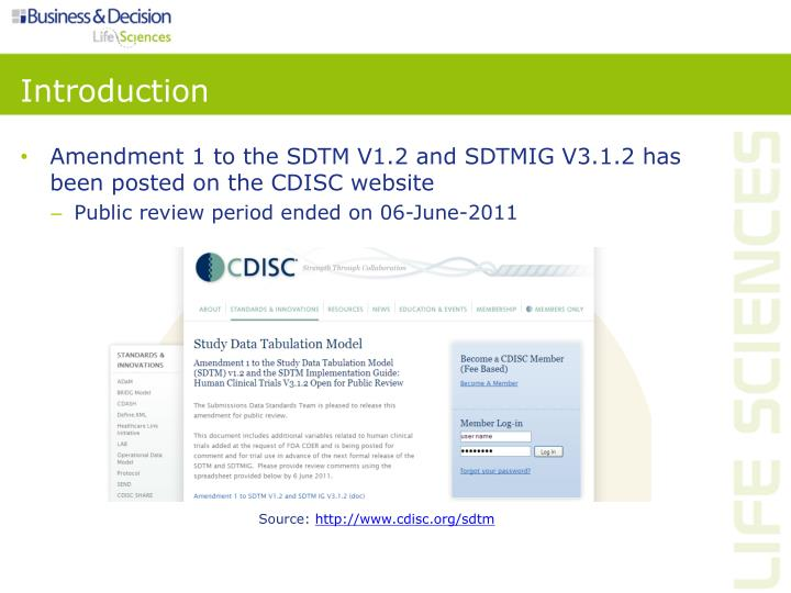 Amendment 1 to the SDTM V1.2 and SDTMIG V3.1.2 has been posted on the CDISC website