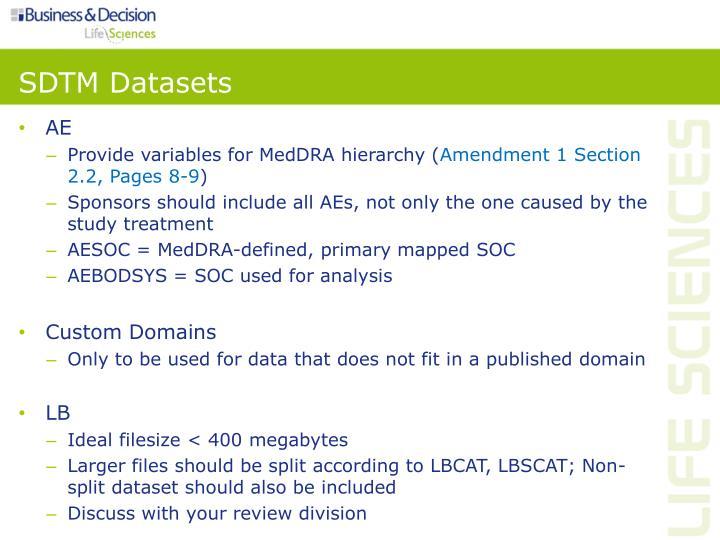 SDTM Datasets