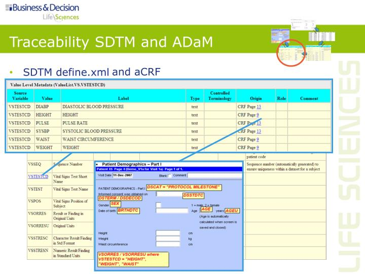 Traceability SDTM and ADaM