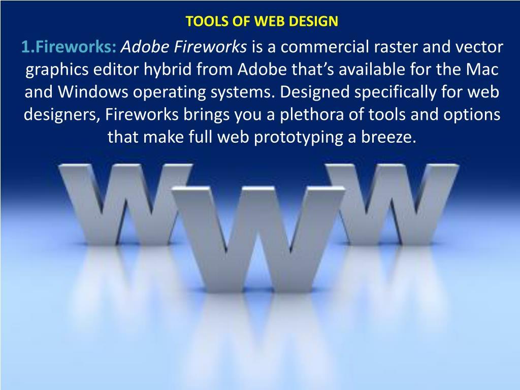 TOOLS OF WEB DESIGN
