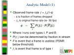 analytic model 1