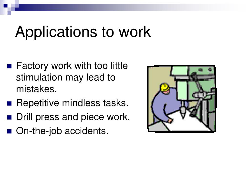 Applications to work