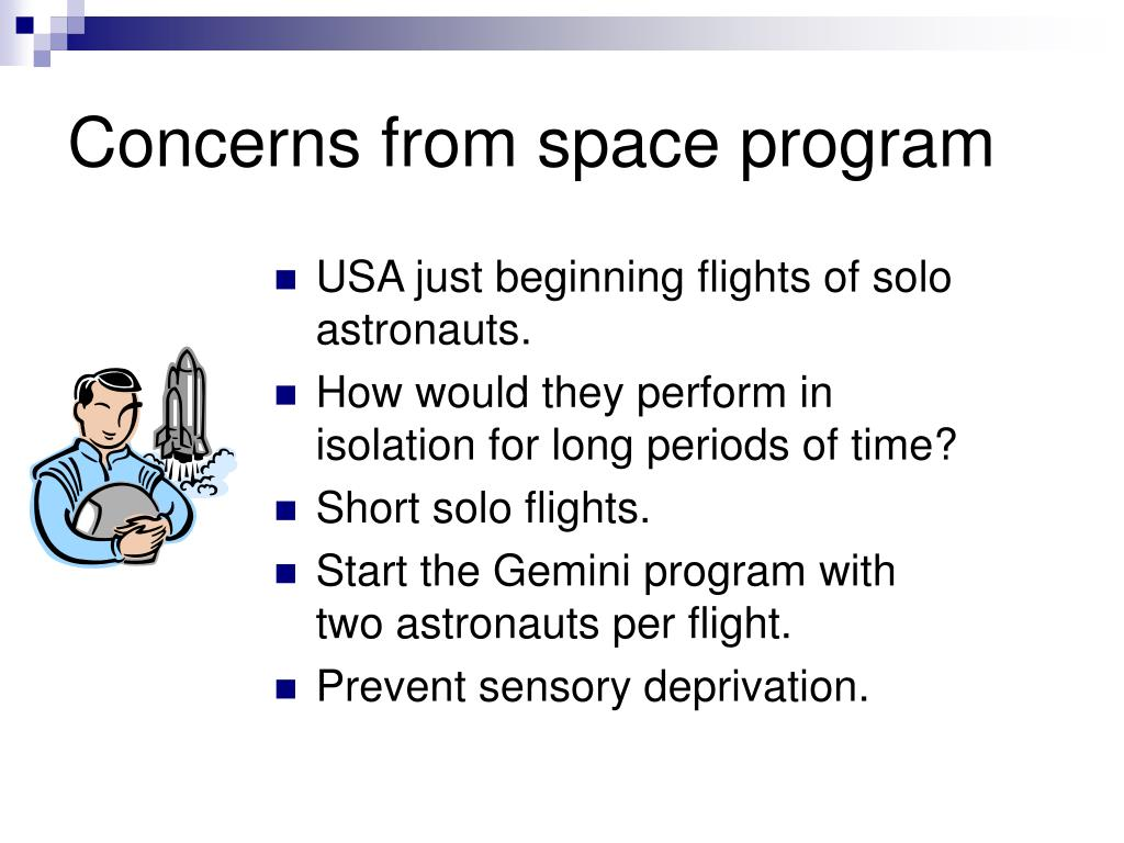 Concerns from space program