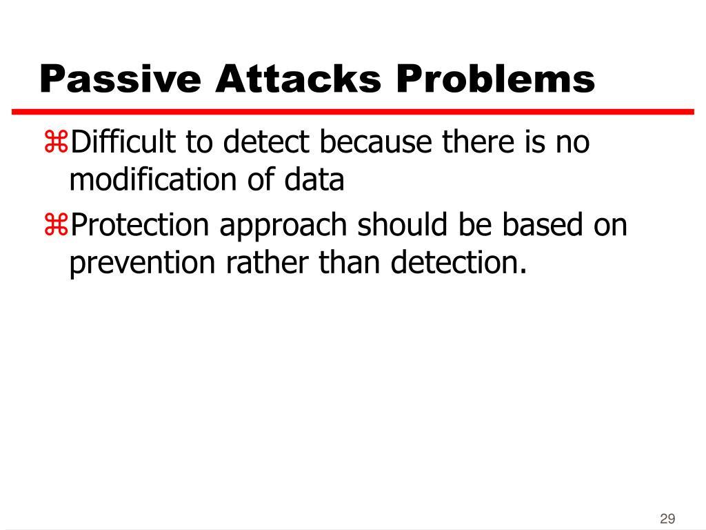 Passive Attacks Problems