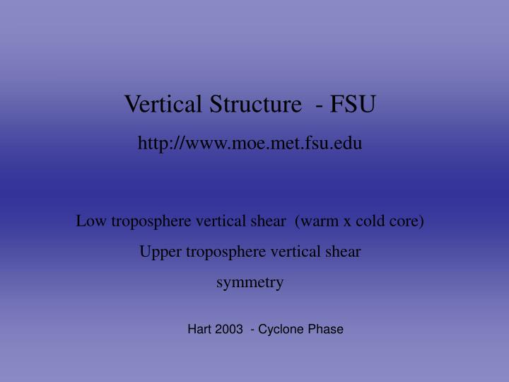Vertical Structure  - FSU