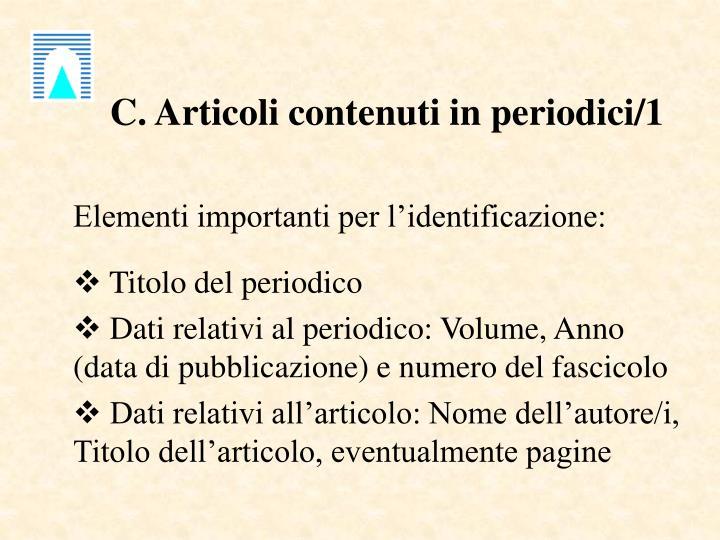 C. Articoli contenuti in periodici/1