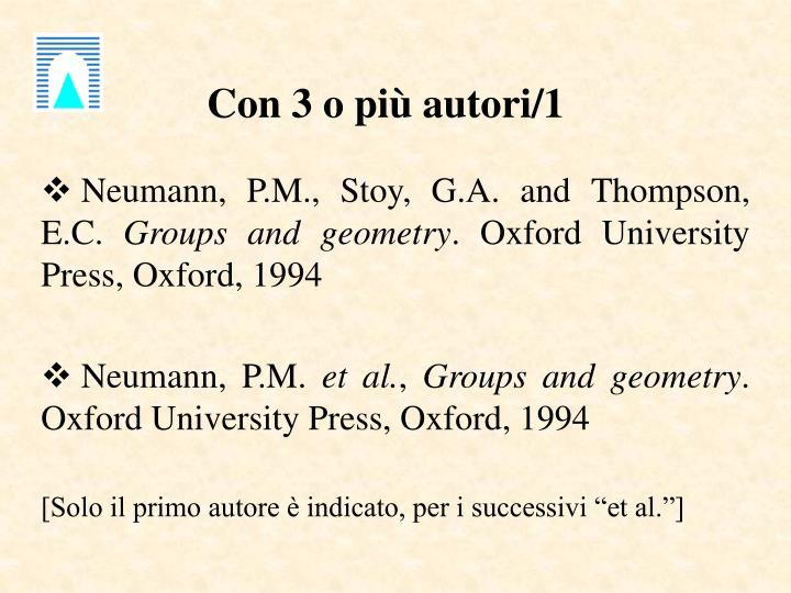 Con 3 o più autori/1