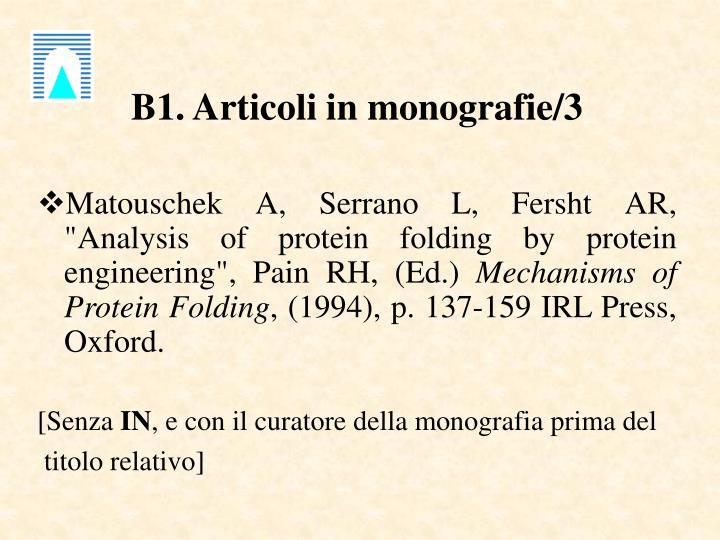 B1. Articoli in monografie/3