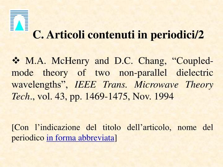 C. Articoli contenuti in periodici/2