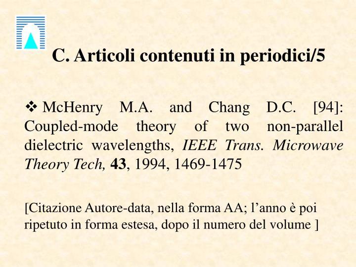 C. Articoli contenuti in periodici/5