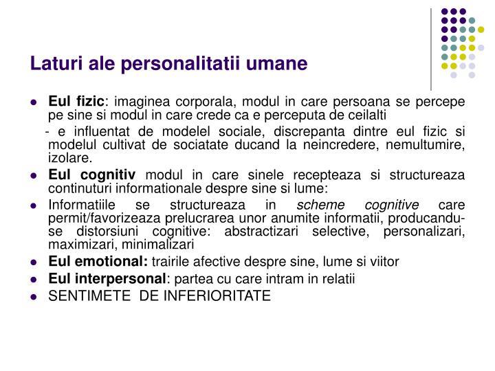 Laturi ale personalitatii umane