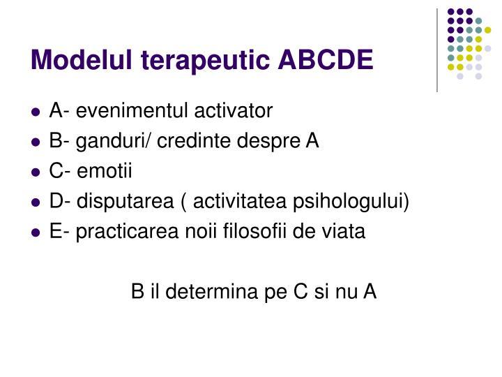 Modelul terapeutic ABCDE