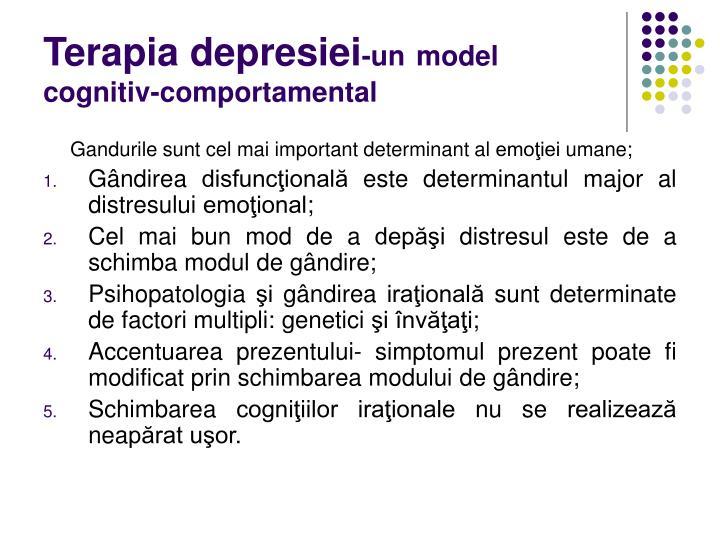 Terapia depresiei