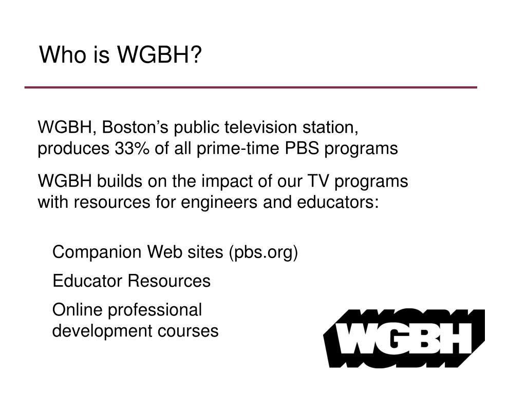 Who is WGBH?