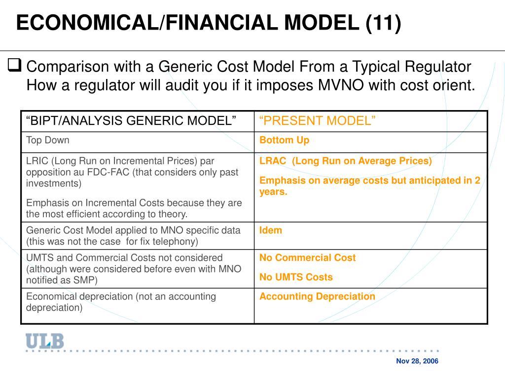 ECONOMICAL/FINANCIAL MODEL (11)