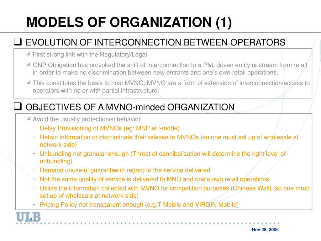 MODELS OF ORGANIZATION (1)
