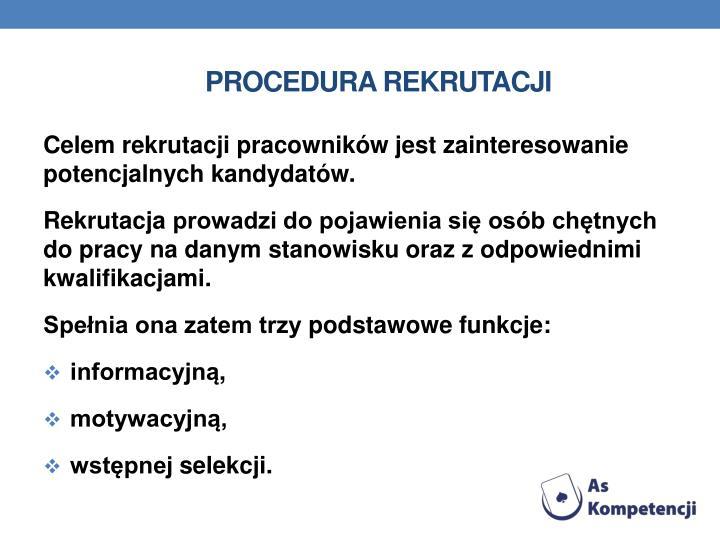 Procedura rekrutacji