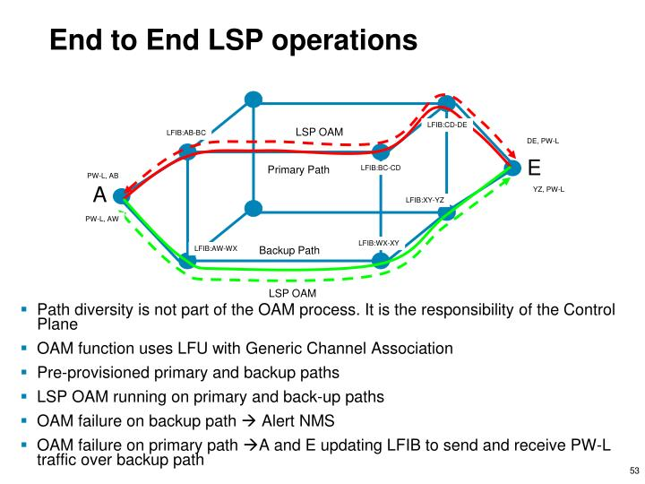End to End LSP operations
