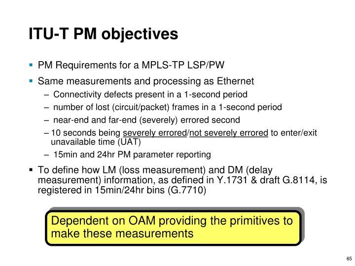 ITU-T PM objectives