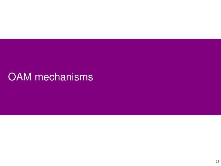 OAM mechanisms