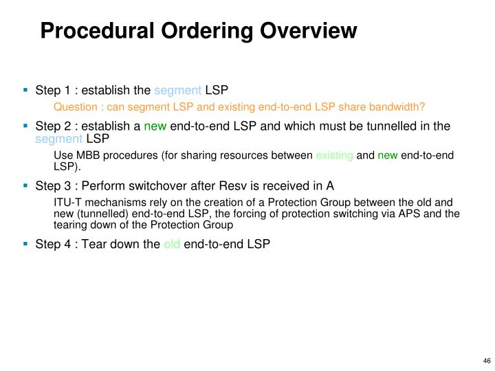 Procedural Ordering Overview