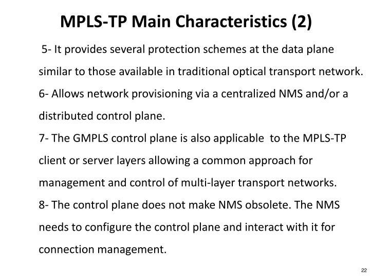 MPLS-TP Main Characteristics (2)