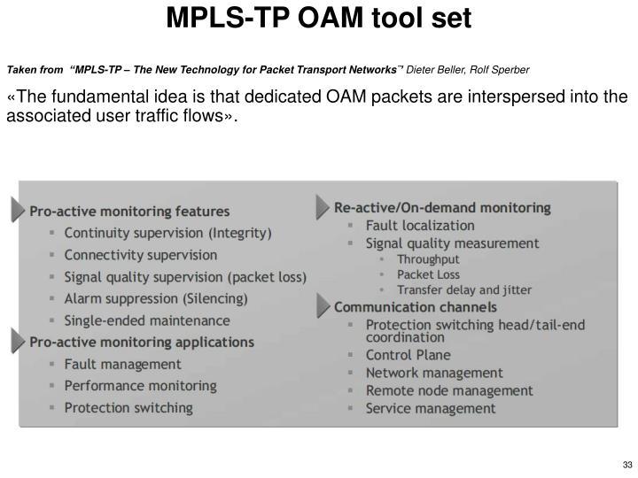 MPLS-TP OAM tool set