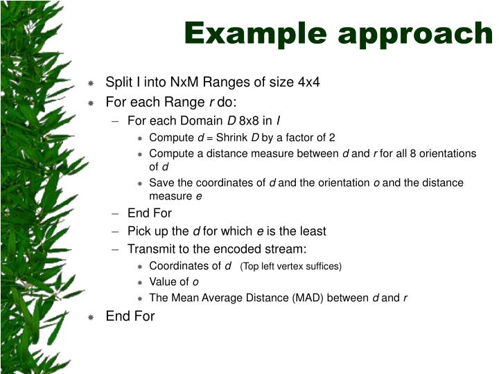 Example approach