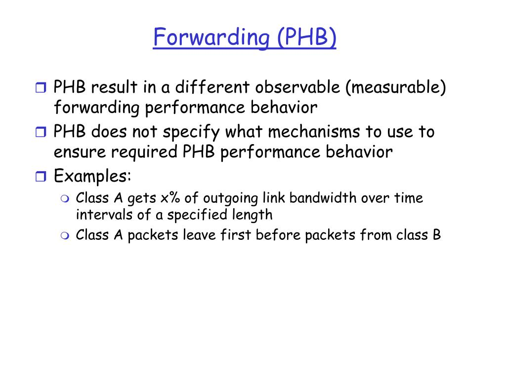 Forwarding (PHB)