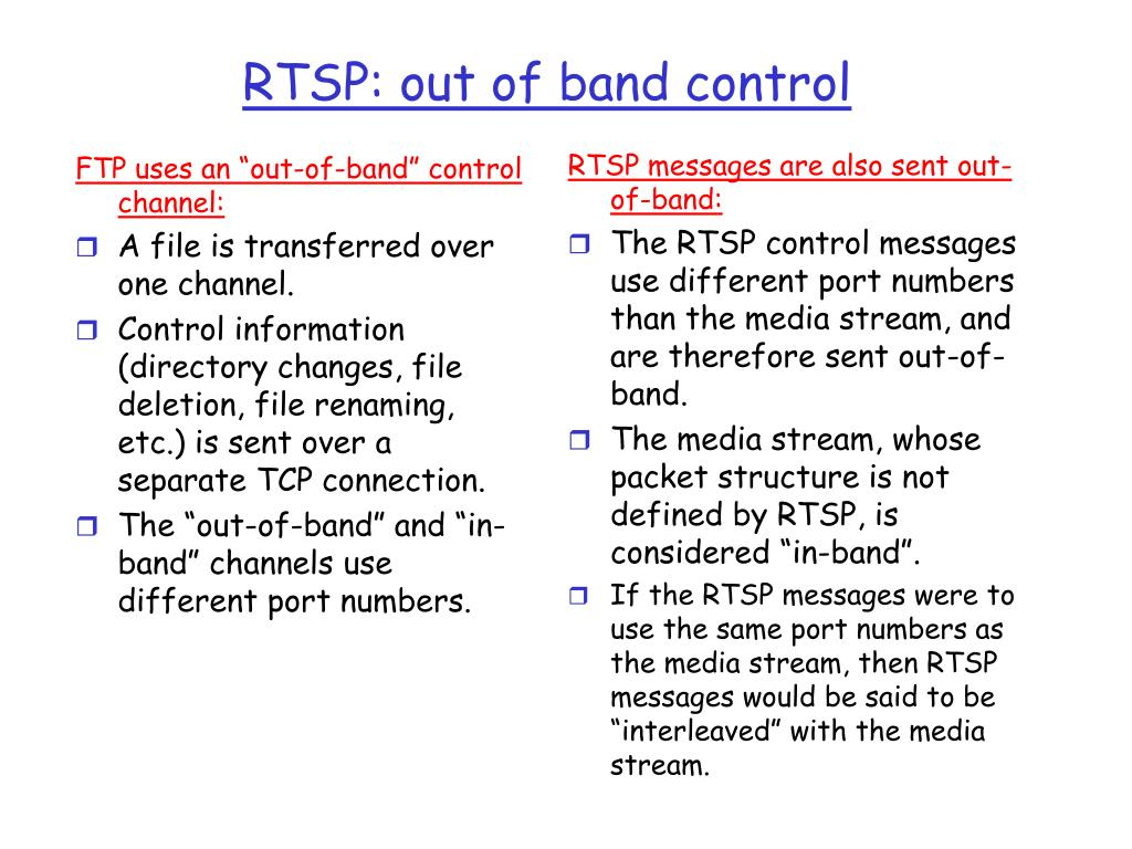 """FTP uses an """"out-of-band"""" control channel:"""