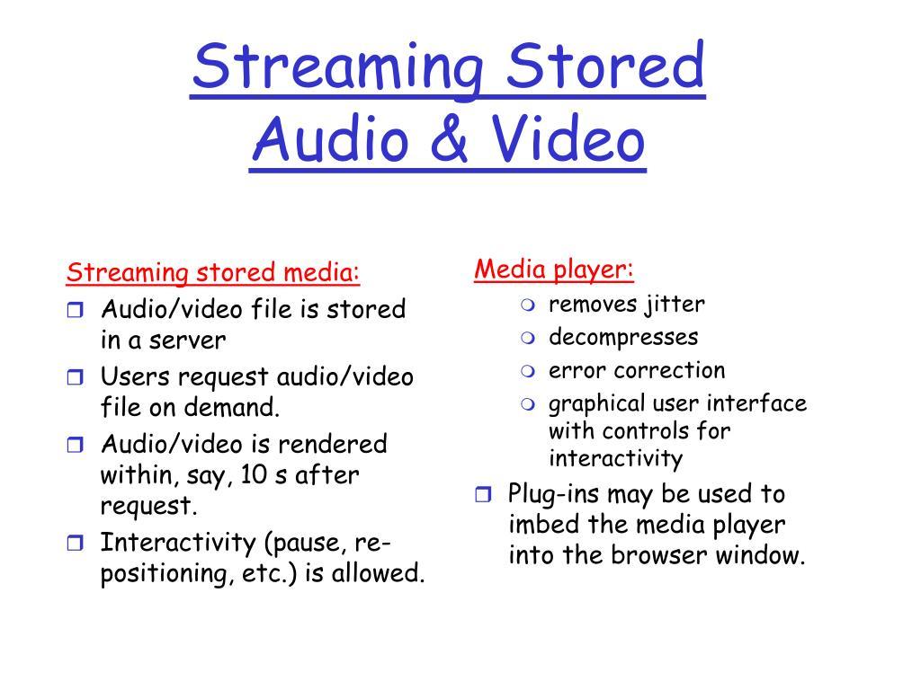 Streaming stored media: