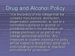 drug and alcohol policy