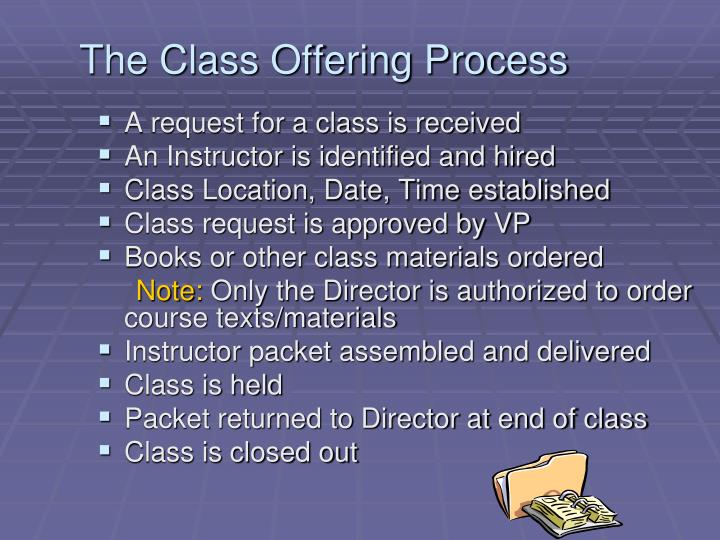 The Class Offering Process